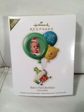Hallmark Keepsake 2012 Baby's First 1st Birthday Christmas Ornament Photo Holder