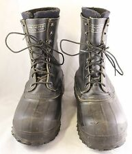 Vtg LaCrosse Iceman Black Leather Rubber Winter Hunting Boots USA Men's 8