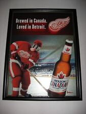 "Detroit Red Wings Molson Beer 3D Bar Mirror 2009 25"" x 19"""