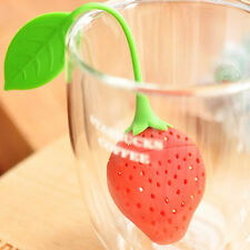 Reusable Food Strawberry Shaped Bag Holder Tea Coffee Punch Tea Infuser