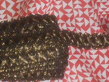 """5 yards 1/2"""" width black & gold braid trim for your fashion design"""