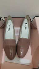 New Repetto Taupe Patent Leather Olivier Wedge Heel Shoes , Size 40