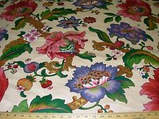 ~10 4/8 YDS~STANLEY KING~FRUIT FLOWERS~COTTON UPHOLSTERY FABRIC FOR LESS~