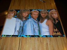 Def Leppard Poster 23 X 36 Out of Print RARE 1987 Hysteria Era