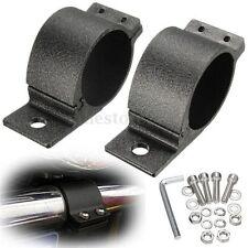 2pcs 50mm Car Bull Bar LED HID Work Light Holder Aluminum Mounting Bracket Clamp