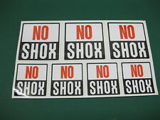 7 Rock Shox NO SHOX Stickers