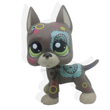 Littlest Pet Shop RARE Flowers Great Dane Dog Puppy Animal Green Eyes LPS #1439