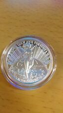 Good luck fairy nude round - One Troy Ounce .999 Fine Silver beauty coin bar