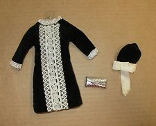 Japanese Exclusive Outfit #21002655  Black Velvet Dress with Hat