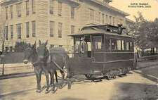 Middletown Ohio Rapid Transit Horse Trolley Antique Postcard K60094