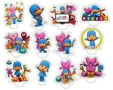x24 pocoyo wafer paper stand up cup cake toppers PRE-CUT