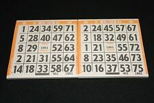 BINGO PAPER Cards 1 on's singles  200 Orange sheets  FREE SHIPPING IN US