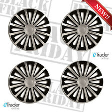"16"" Renault Traffic Van Wheel Trims Hubcaps Qty4 Black & Silver New Quality SALE"