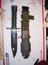 US Military Combat Survival fighting knife M-9,Lan-Cay With Sheath,GOV. ISSUE