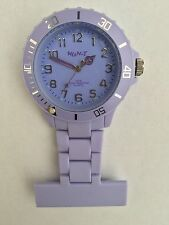 Neon T Unisex Nurses Fob Watch NE12/J with Light Purple Dial and Plastic Strap