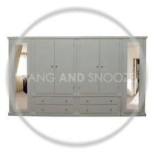 HANDMADE DEWSBURY 6 DOOR, 4  DRAWER  WARDROBE IVORY (ASSEMBLED)