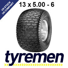 13 x 5.00 - 6 LAWNMOWER , GOLF  BUGGY -  TURF TYRES - GRASS TYRES