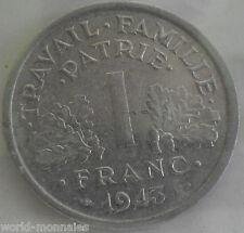 1 franc état français 1943 légère : SUP : pièce de monnaie française