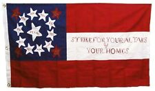 """10th Texas Cavalry Flag 3x5 ft COTTON """"STRIKE FOR YOUR ALTARS & YOUR HOMES"""""""