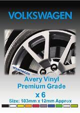 VOLKSWAGEN Alloy Wheel Vinyl Stickers - Graphics X 6