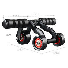 Abs Pro 3 Wheel Fitness Roller Abdominal Fitness Workout System Gym Exercise