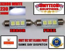 2x 3SMD 36mm LED Canbus Xenon White Number Plate Bulb Ford-Mondeo 93-07 MK 1,2,3
