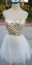 NWT WINDSOR $90 White / Gold Prom Dance Party Dress 11