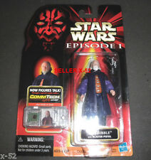 STAR WARS rare SIO BIBBLE action figure EPISODE I hasbro naboo senator toy