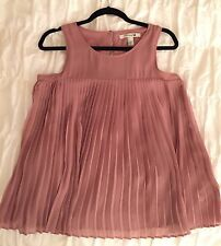 ❤️FOREVER 21 Mauve Rose Pink Pleated Tank Top❤️Sz Small - Supercute