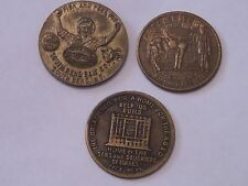 3 TOKEN LOT GREEN RIVER WHISKEY, SONS&DAUGHTERS OF ISRAEL & SOUTH BEND BAIT CO.