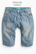 NEW BOYS NEXT SHORTS AGE 11Years,Denim cotton blue drop crotch shorts Bnwts