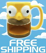 NEW The Simpsons Homer Universal Studios Ceramic Coffee Cup Mug Cookie Holder