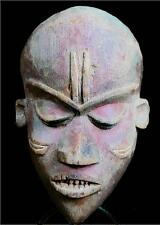 Old Tribal Pende Mask - D R Congo BN 3