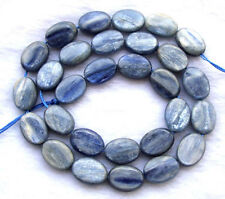 """Natural Kyanite Flat Oval Beads 10×14mm 15.5"""""""