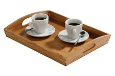 Bamboo Bed Tray Lap Wooden Breakfast Dinner 44 x 29cm NEW