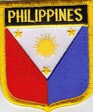 """PHILIPPINES  SHIELD FLAG EMBROIDERED PATCH -- IRON-ON -- NEW 2.5"""" x 2.75"""""""