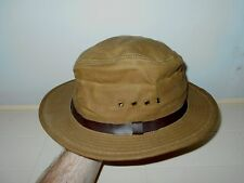 FILSON USA MENS LARGE WAXED COTTON WATERPROOF RIDING HAT                      A5