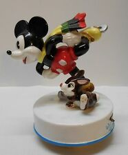 Mickey Mouse and Thumper Skaters Waltz Music Box Walt Disney Product Tunes