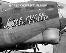 WW2 USAAF B-17 Bomber Little Willie 8x10 Nose Art Photo 388th BG ETO WWII