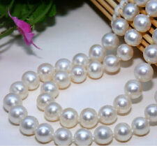 New 8-9mm real White Akoya Cultured Pearl Necklace 34 ""