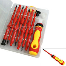 1 Set 7Pcs Electrician's Insulated Electrical Single Head Hand Screwdriver Tools