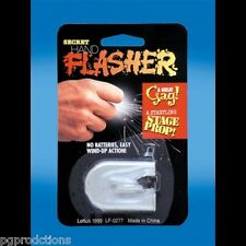 HAND FLASHER Shoots Sparks From Fingertips Fire Magic Trick Prop Ring Wind Up