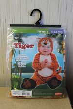 NEW TIGER GIRLS BOYS KIDS SIZE 6-12 MONTHS HALLOWEEN COSTUME OUTFIT BODYSUIT