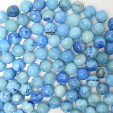 "8mm blue crazy lace agate round beads 16"" strand"