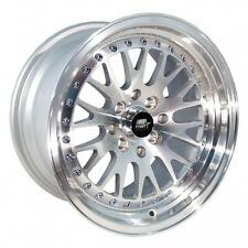 MST MT10 16x8.0 5x100/5x114.3 +20 73.1 Silver w/Machined Face Wheels (Set of 4)