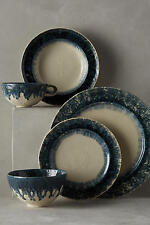 1 New Anthropologie Old Havana Crackled Glaze DINNER Plate ~ Pretty & Sold Out!