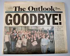 """THE OUTLOOK"" A COPLEY L.A. NEWSPAPER SANTA MONICA FINAL ISSUE GOODBYE 3-14-1998"