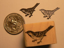 "P24 Miniature Sparrow 0.5x0.7"" WM Rubber Stamp"
