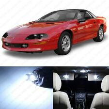 9 x Xenon White LED Interior Light Package For 1993 - 2002 Chevy Camaro