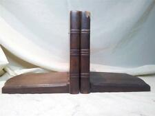 STYLISH ART DECO MAHOGANY BOOK ENDS C1935
